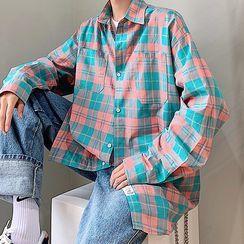 Dukakis - Long-Sleeve Plaid Shirt