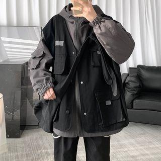 CooLook - Color Block Hood Jacket