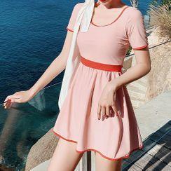 Oleil - 套装: 短袖泳裙 + 下装