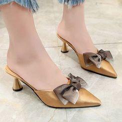 Weiya - 细鞋跟尖头凉拖