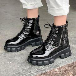 Aegina - 繫帶厚底短靴