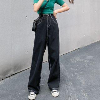 MyLeanna - High-Waist Straight-Cut Jeans