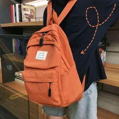 Hampa - 復古帆布純色背包