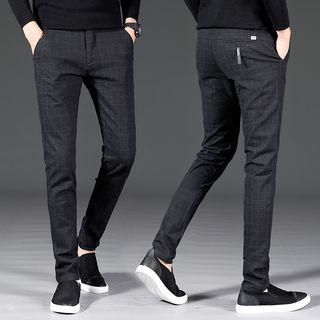 Meiki - Plaid Slim-Fit Pants