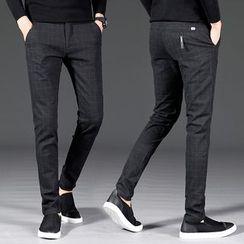 Meiki - 格子修身裤