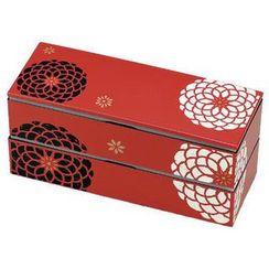 Hakoya - Hakoya Slim 2 Layers Lunch Box Aka Hyakka