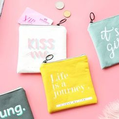 Cute Essentials - Lettering Canvas Sanitary Pouch