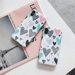 NISI - Heart Print Mobile Case - iPhone XS Max / XS / XR / X / 8 / 8 Plus / 7 / 7 Plus / 6s / 6s Plus
