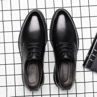 Junster - Genuine Leather Lace-Up Shoes