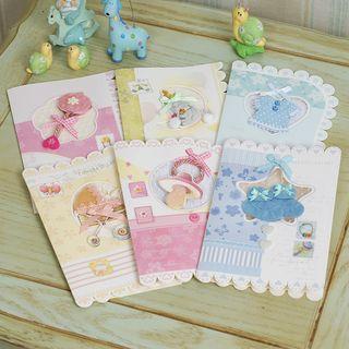 DAILYCRAFT - Newborn Baby Greeting Card (various designs)
