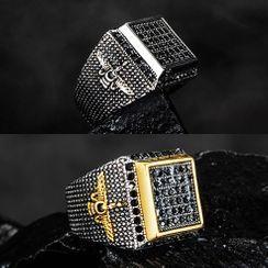 Andante - 不锈钢方形戒指