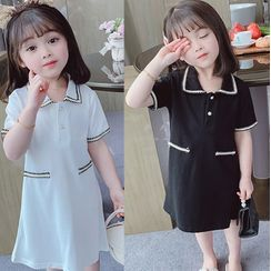 BobaBop - Kids Short-Sleeve A-Line Polo Dress