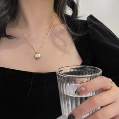 Show Mind - Heart Pendent Necklace