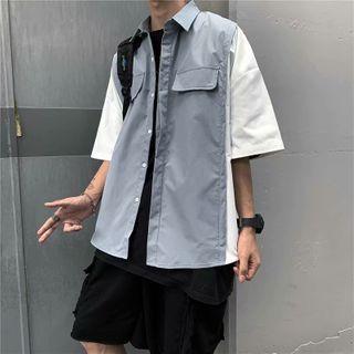 Oakjam - Sleeveless Plain Shirt