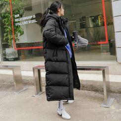 Seoul Fashion - Hooded Duck Down Padding Coat