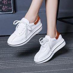 Aegina - Lace-up Platform Sneakers