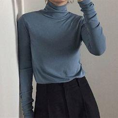 Edise - Long-Sleeve Turtleneck T-Shirt