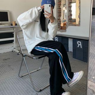 LINSI - 条纹宽腿灯芯绒裤