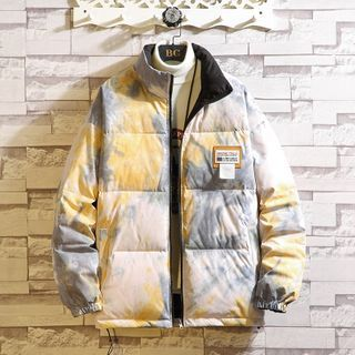 KimKlose - Tie Dye Padded Zipped Jacket