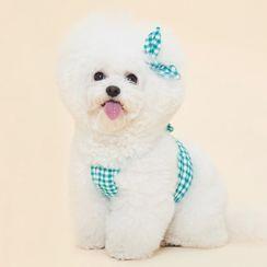 Bixin - Bow Plaid Pet Top