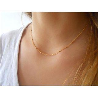 Gemsha - Beaded Alloy Necklace