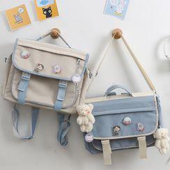 MUSA - Nylon Flap Crossbody Bag