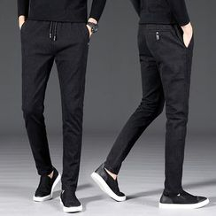 Meiki - Pinstriped Slim Fit Pants