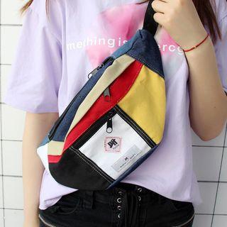 Bags 'n Sacks - Color Block Denim Fanny Pack