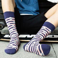 electroyinyang - Printed Crew Socks / Set