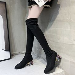 Cymbeline - Chunky-Heel Over-The-Knee Boots
