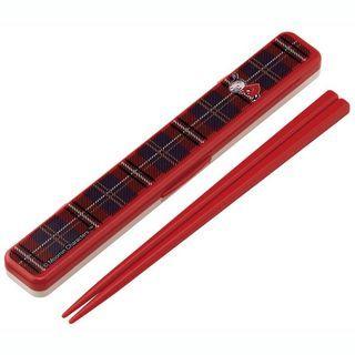 Skater - 姆明 筷子连盒 18cm (亚美)