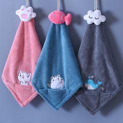 Koeman - Cartoon Coral Fleece Hand Towel
