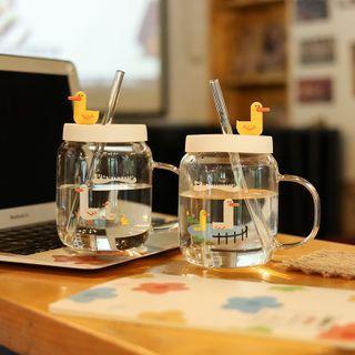 Chimi Chimi - 鸭子玻璃水杯连饮管