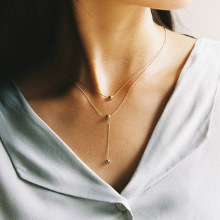 CHERRYKOKO - Ball-Charm Layered Y-Necklace
