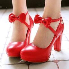 Aegina - 厚底粗跟踝带鞋