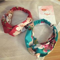 Pompabee - Floral Print Knot Headband