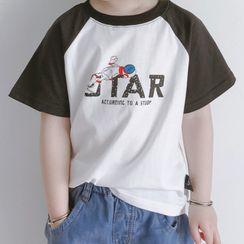 Bear Beans  - 小童卡通印花插肩袖短袖T裇