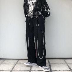 Giuliana - Chain Strap Wide-Leg Pants