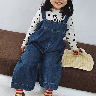 Pluie - Kids Cropped Wide-Leg Denim Jumper Pants