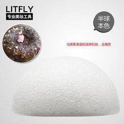 Litfly - Natural Konjac Sponge (Half Round) (Original)