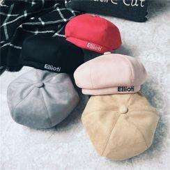 Raconteur - Embroidered Lettering Beret Hat