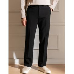 STYLEMAN(スタイルマン) - Band-Waist Straight-Cut Dress Pants