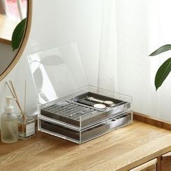 Lazy Corner - Transparent Accessory Storage Box