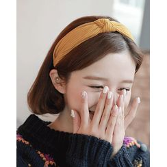 Miss21 Korea - Twisted Ribbed Knit Hair Band