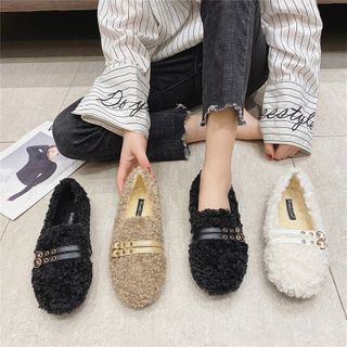 The Shoe House(ザ シューハウス) - Faux Shearling Slip-Ons