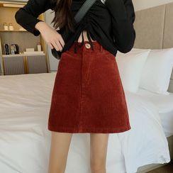 Whoosh(ウーシュ) - Corduroy A-Line Skirt