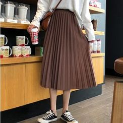Sisyphi - Accordion Pleated Midi Skirt