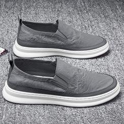 TATALON - Plain Round-Toe Slip-On Shoes