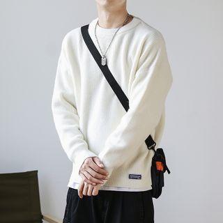 SKASEE STUDIO - Long-Sleeve Loose-Fit Plain Knit Top