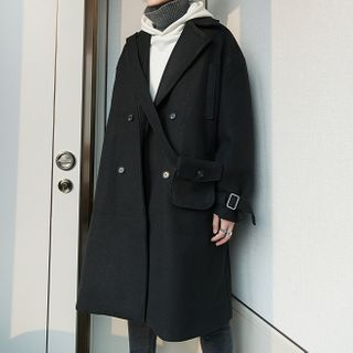 CHIC ERRO  - Double-Breasted Oversize Trench Coat
